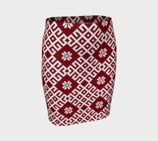 Red and White Nordic Pattern preview