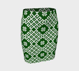 Aperçu de Green Nordic Latvian Folk Design
