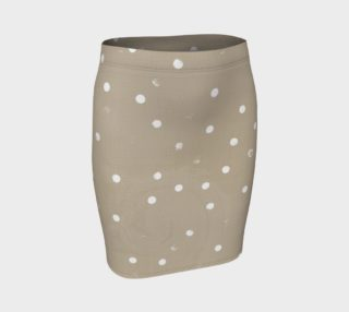 Beige Neutral White polka Dots preview