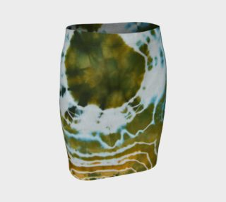 Green Geode Fitted Skirt preview