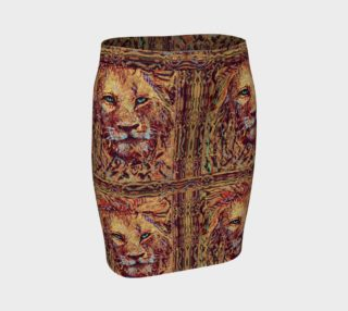 King Leo Lion-Guard Thin-Band Fitted Skirt preview