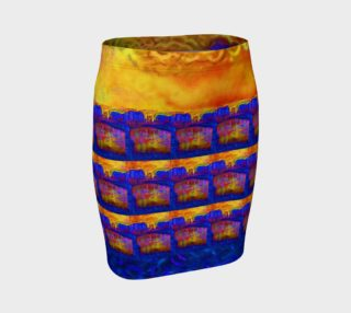 Atomic Arles Fused-Airburst Fitted Skirt preview