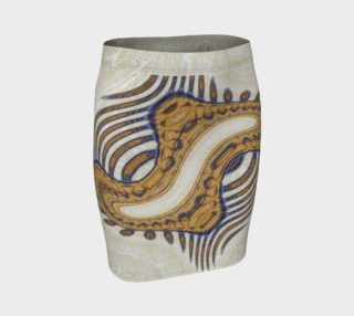 Yoga Woman Victory Symbol Fitted Skirt (w/lux-surface look.) preview