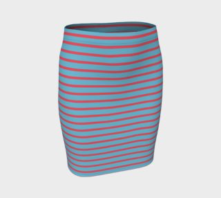 Stripes - Darker Coral on Light Blue preview