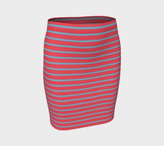 Stripes - Light Blue on Darker Coral preview