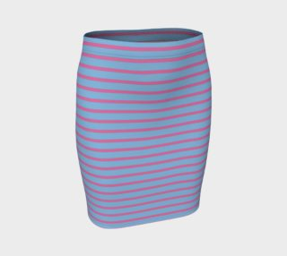 Stripes - Pink on Light Blue preview
