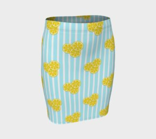 Lemon Slices on Light Blue Stripes preview