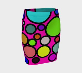 Circles Galore Fitted Skirt preview
