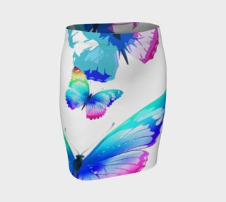 Butterfly Fitted Skirt  103-7 preview