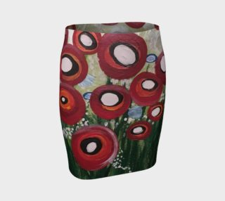 Whimsical Poppy Fitted Skirt preview