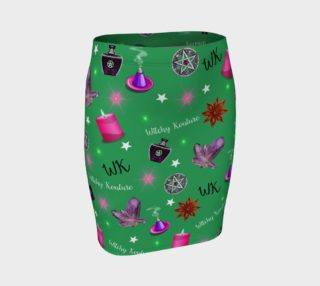 WK #ModernWitchLife Green Print Fitted Skirt preview