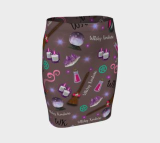 WK #ModernWitchLife Taupe Print Fitted Skirt preview