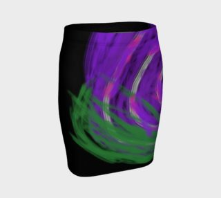 purple flower pencil skirt preview