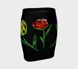 flower power pencil skirt preview
