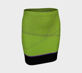 INDUSTRIAL GRUNGE - Green/Black - Fitted Skirt preview