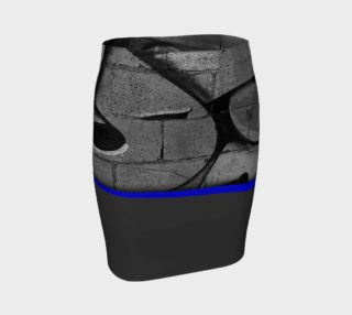 CHOLO - Gray/Blue - Fitted Skirt preview