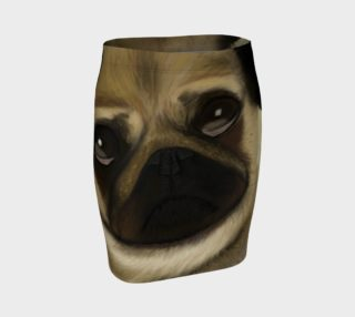 Pug Love Fitted Skirt preview