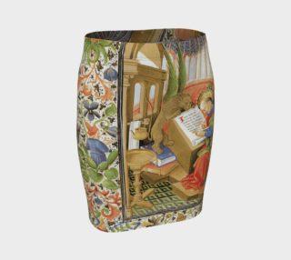 Aperçu de Medieval Lion Scribe - Fitted Skirt