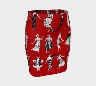Aperçu de La Vie Parisienne Rouge - Fitted Skirt