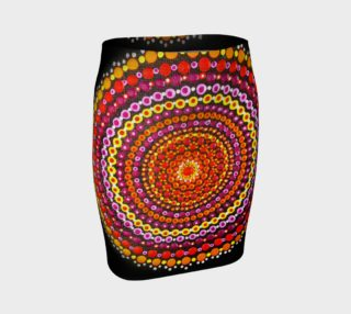 Dotty Mandala Fitted Skirt preview