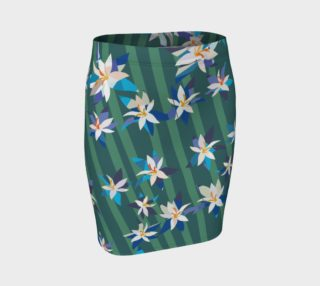 Green Blue Tropical Skirt preview