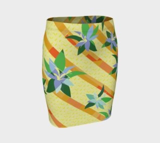 Tropical Yellow Floral Skirt preview