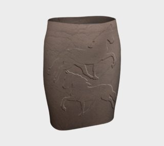 EQUINE Faux Leather Fitted Skirt   103-2 preview