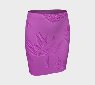 Embossed Pink Fitted Skirt  103-1 preview