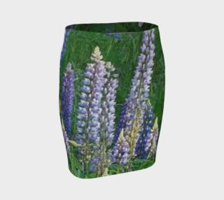 Blue Lupines on Fitted Skirt preview