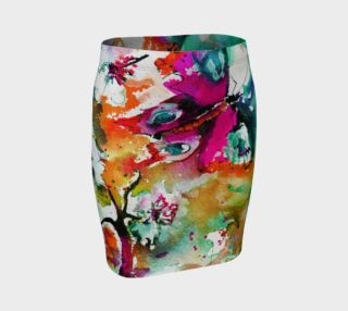 Aperçu de Pink Butterfly Fitted Skirt