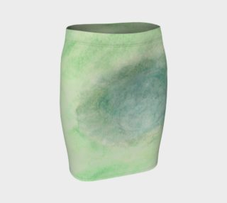 Green Dimension Flower Fitted Skirt preview