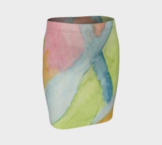 Pastel Stained Glass Fitted Skirt preview