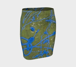 Sage and Cobalt Fitted Skirt preview