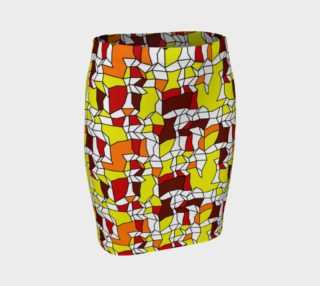 Geometric Pattern Fitted Skirt preview