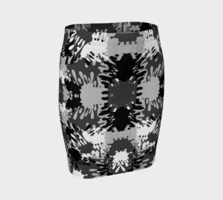 Black Paint Splatter Fitted Skirt  preview
