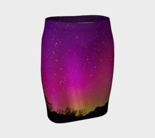 Fucshia Stars Northern Lights Fitted Skirt preview