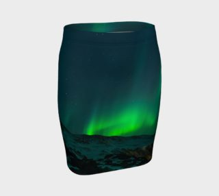 Vivid Northern Lights Fitted Skirt 2 preview