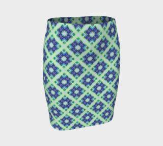 Blue Green Crisscross Pattern preview