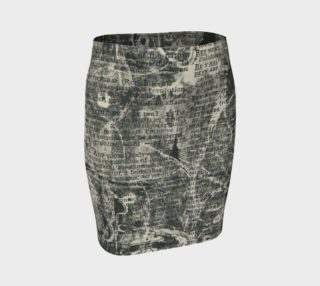 Dictionary Print Fitted Skirt preview