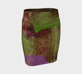 Green and Purple Abstract Skirt preview