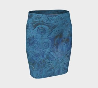 Blue and Green Flowered Fitted Skirt preview