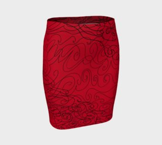 Graphite Red Fitted Skirt preview