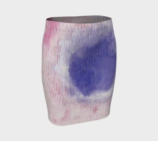 Pastel Floral Dream Fitted Skirt preview