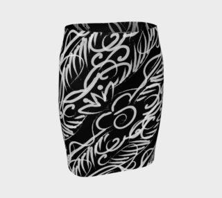 Black Scroll Stripe Skirt preview