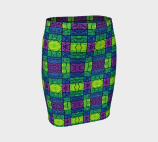Serenity Stained Glass II Fitted Skirt  preview