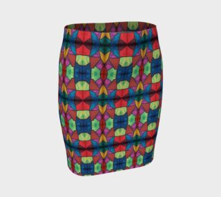 Cross and Flower Mosaic Fitted Skirt I preview