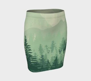 Forest Pine Fitted Skirt preview