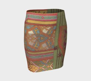 green collage skirt preview