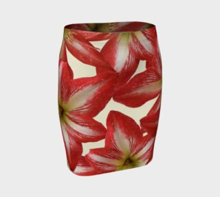 Amaryllis Flower II Fitted Skirt preview