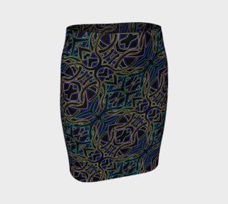Dark Peacock II Fitted Skirt II preview